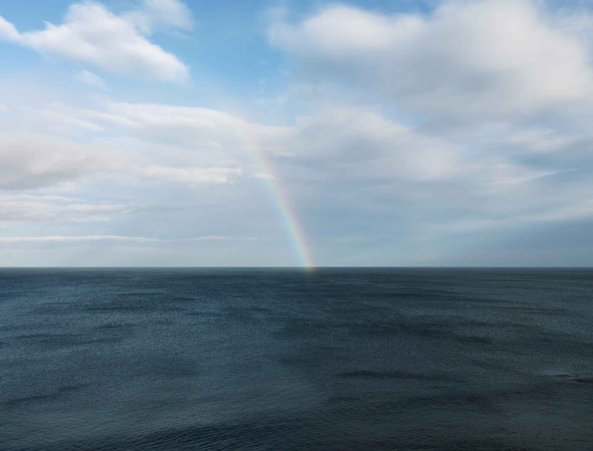 Rainbow from Needles Eye Northumberland 2017